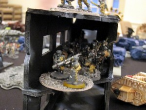Kiril's Guardsmen look for any shelter they can get!