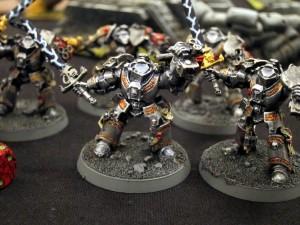 Some of Lorenzo's many Grey Knight Terminators
