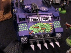 One of Tom's Rhinos, filled with Plague Marines in this case!