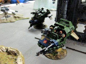 Landspeeders, busy *not* moving into position to purge the xenos!