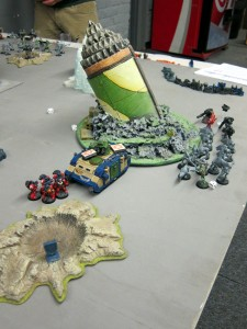 The Hive Lords' detachment, just after forcing the Kroot to flee amidst the plentiful flames of righteousness and shortly before retaking the Kingbreakers' forward base.