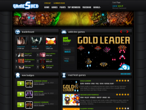 Gold Leader on the front page of GameShed!