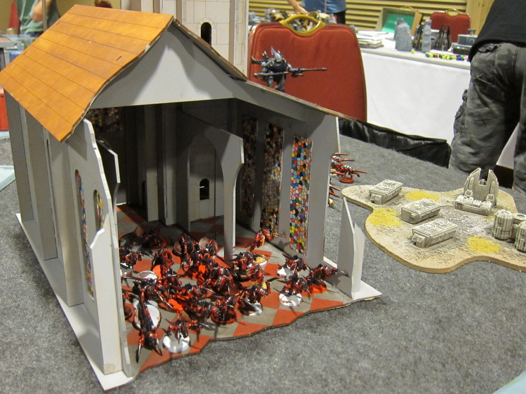 Tyranid infest the local ecclesiarchy church.