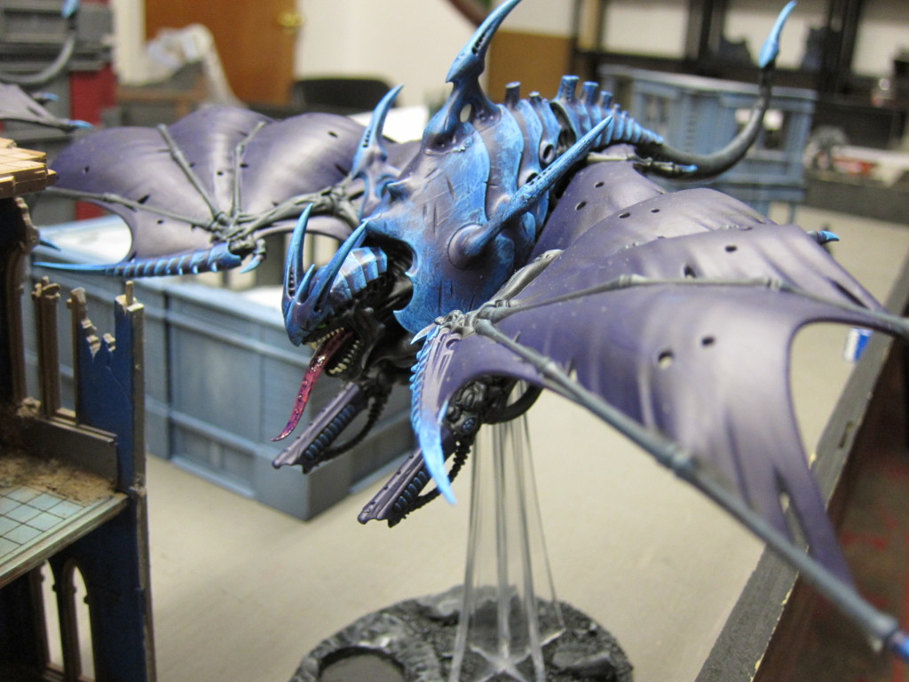 Mike P's Tyranid swarm sweep the skies clean.