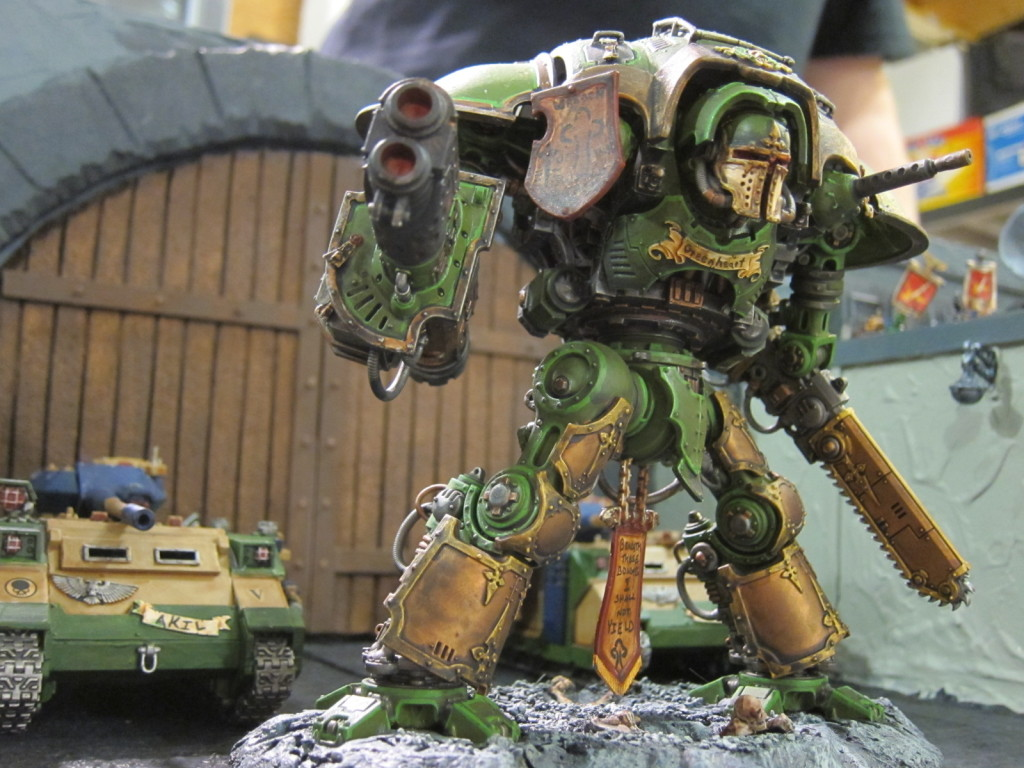 The Knight Errant Greenheart marches to war.