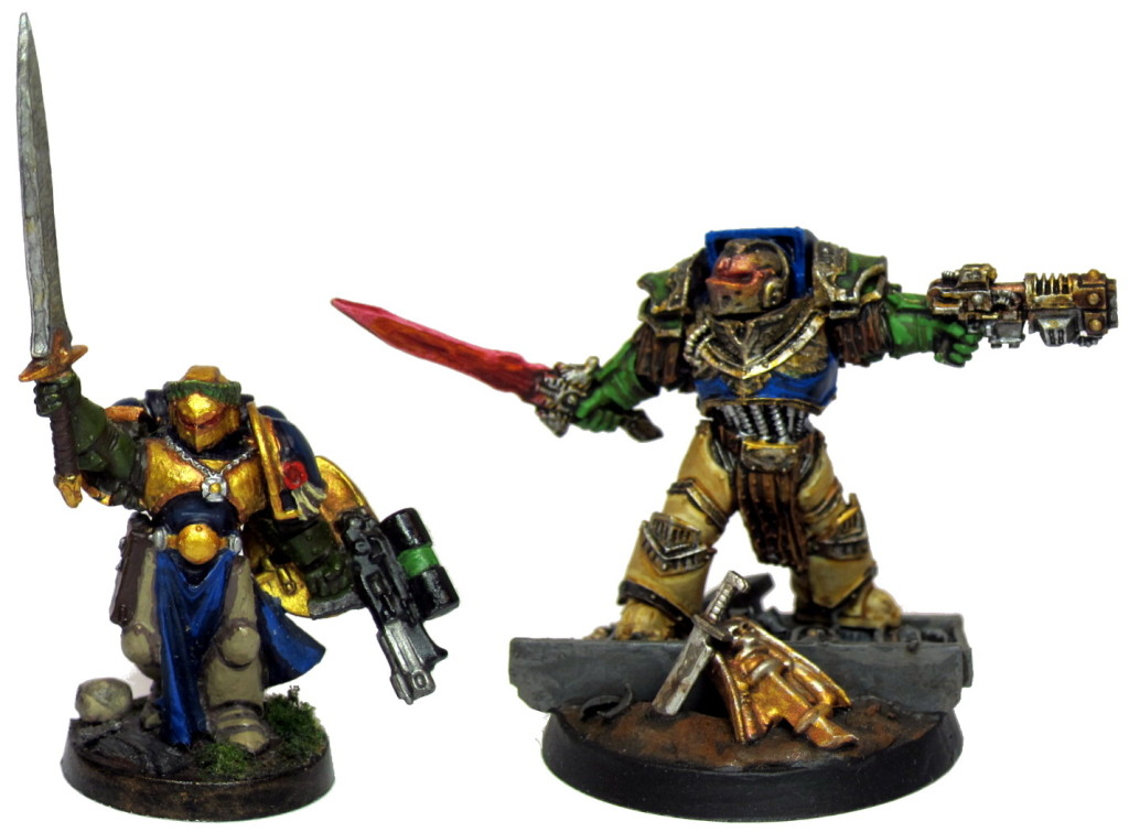 Captain Angholan 1.0 on the left, one of my first models six years ago. Epic edition 2.0 on the right.