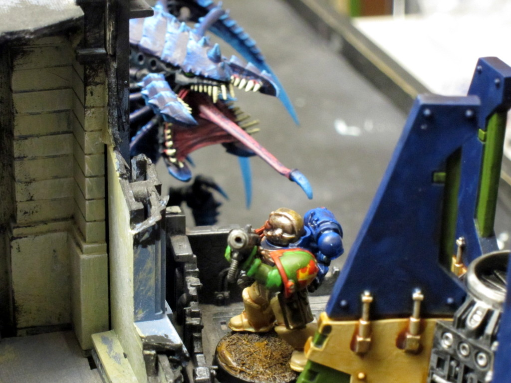 Kingbreakers scour the ruins for Tyranid monsters, finding them all too often.