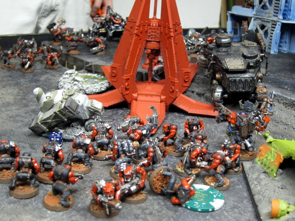 The Ork Mob surrounds the Blood Angels' landing site.