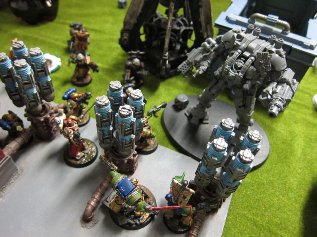 Multiple squads go at the Dreadknight at the power station.
