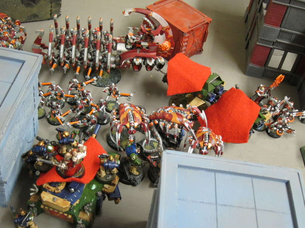 Necrons and Kingbreakers pile in.
