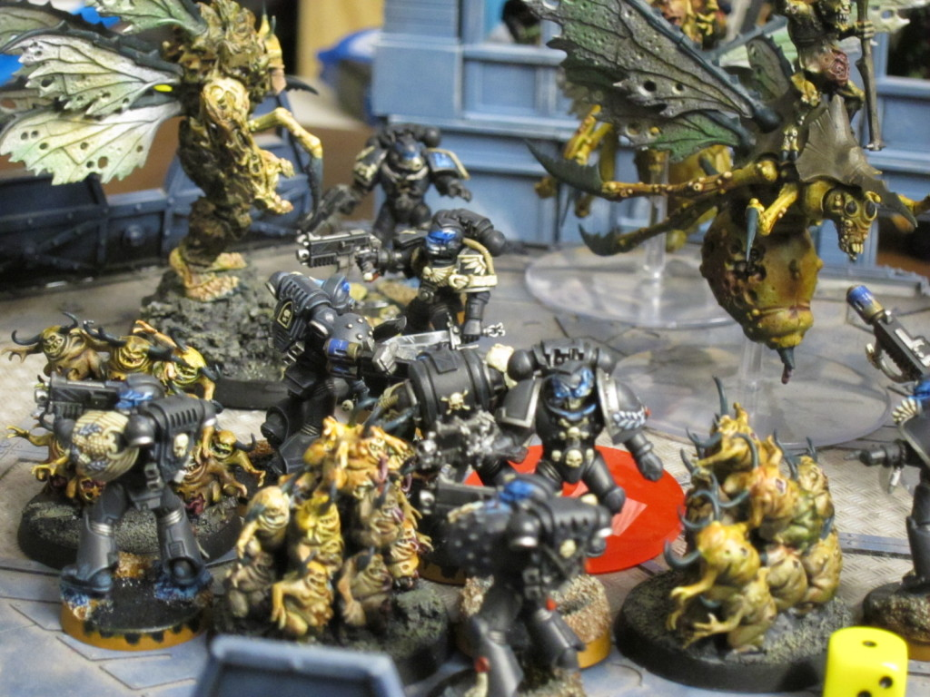Nurgle is beset on all sides by the Legion of the Damned.