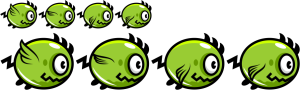 Standard and hi-res spritesheets for the flappy monster.