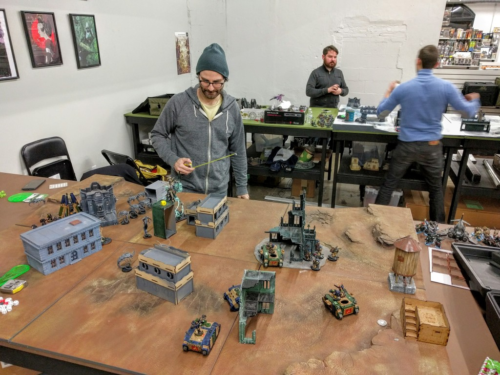 Top of Turn 2, Necron move.