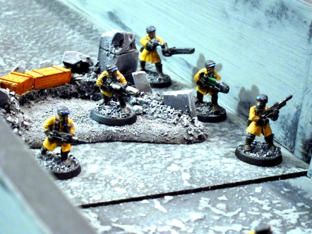 Steel Legion move against a vital cogitator bank...