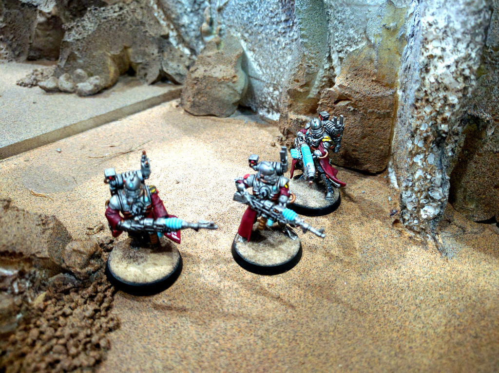 Skitarii work their way underground...