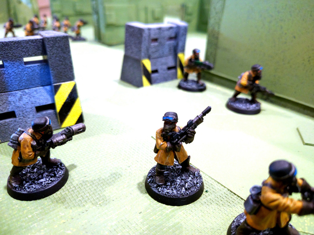 Steel Legion enter the closed-off base.