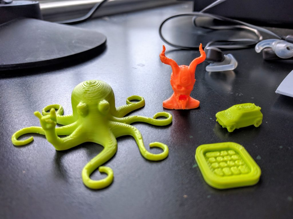 Some test parts. What's up, Rocktopus?
