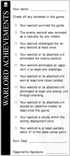 Warlord achievements.