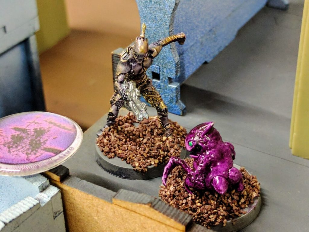 An icky bio-bomb prepares to blow up and incapacitate the Forward Observer team.