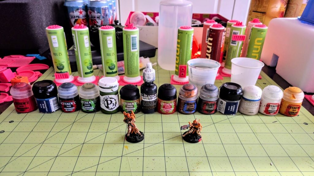 All the paints for my Military Orders scheme.