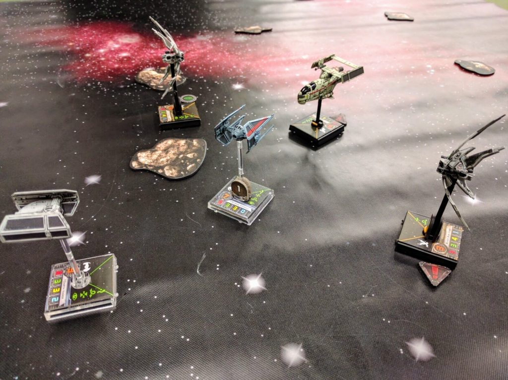 Darth Vader and one of his aces are ambushed by Scum pirates. These lists... do not meet any criteria whatsoever.