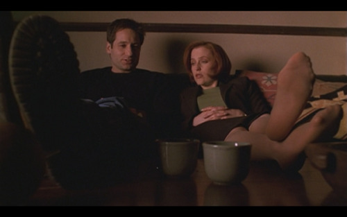 Scully and Mulder Netflix-and-chill between alien invasions.