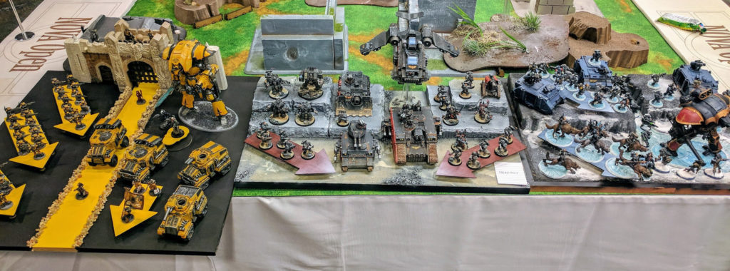 Another great army display, from Team Sacrosanct (CREW SHAKEN!).
